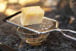 parmesan cheese on a grater