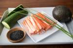 ingredients for california sushi roll