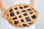 homemade berry pie