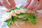 fresh shrimp on a plate