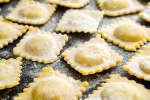 fresh uncooked ravioli
