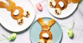 Breakfast recipes: Bunny Pancakes
