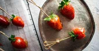 Dessert recipes: Candied Strawberries