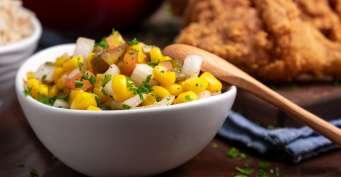 Snacks recipes: Roasted Chili Corn Salsa