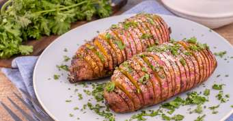 Side Dish recipes: Hassleback Sweet Potatoes
