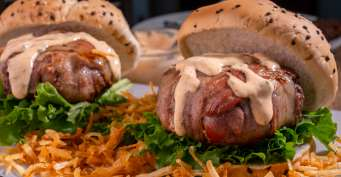 Dinner recipes: Bacon Wrapped Burger