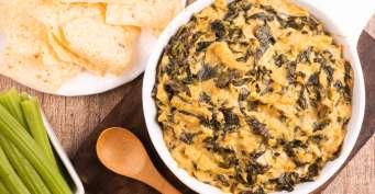 Appetizer recipes: Vegan Artichoke and Spinach Dip