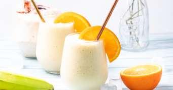 Snacks recipes: Mango Banana Smoothie