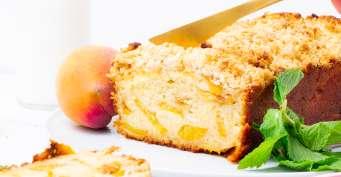 Brunch recipes: Peach Cobbler Pound Cake