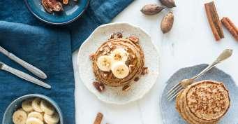 Breakfast recipes: Gluten Free Banana Pancakes