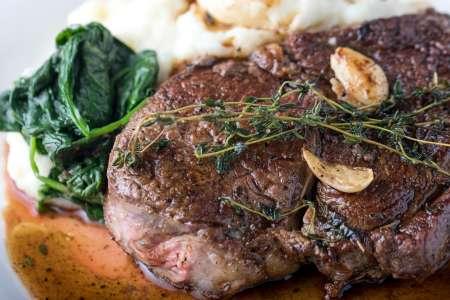 American Style Steak Dinner