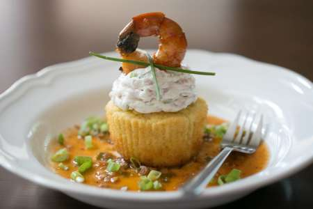 Shrimp & Grits Cupcakes for 2
