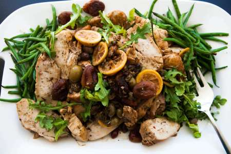 braised chicken with lemons and olives