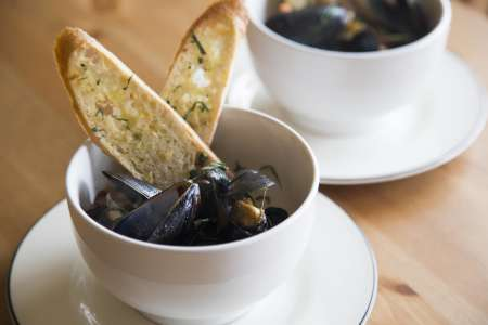 Marinated mussells