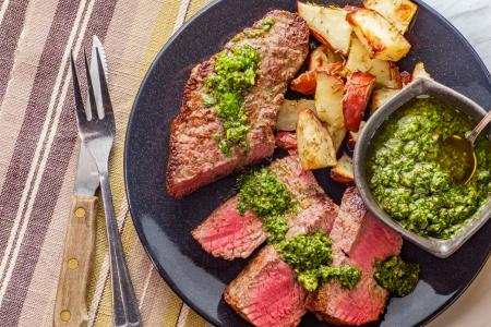 Modern Steak Dinner