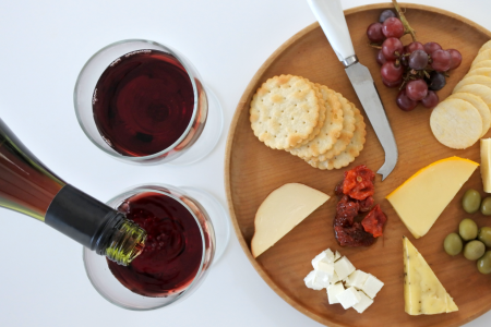 red wine and cheese pairing