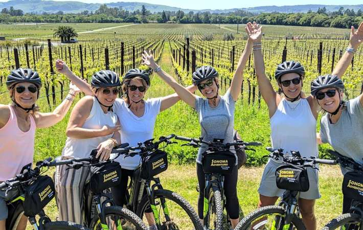 biking sonoma wine country is a fun food tour in california
