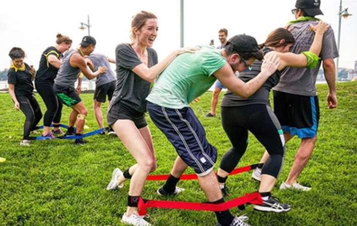 have a field day with throwback fitness for fun team building activities in nyc