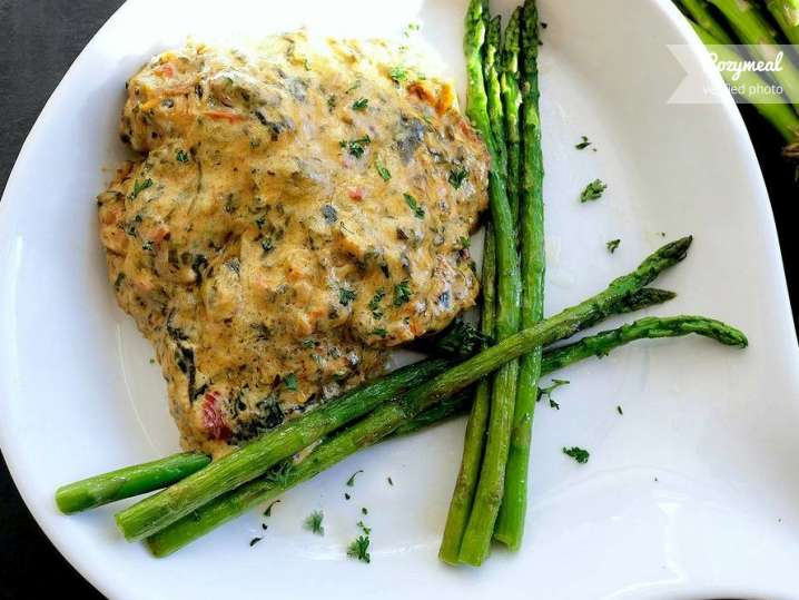 Creamy Tuscan Chicken and Asparagus