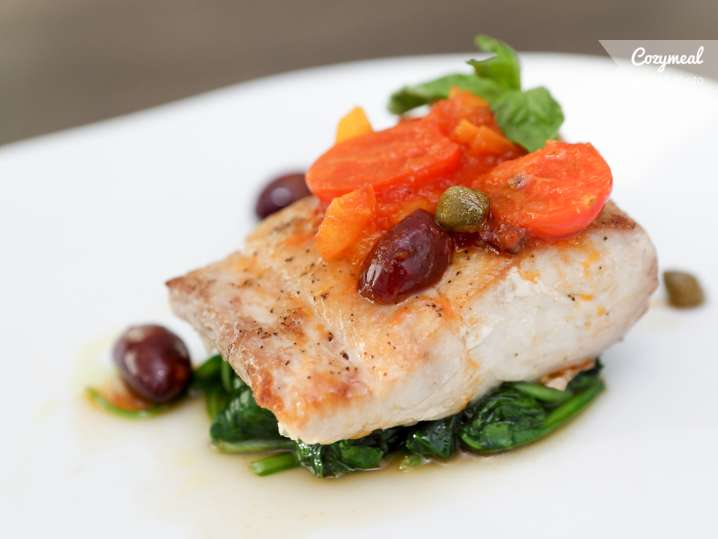 Seared White Fish With Mediterranean Verde