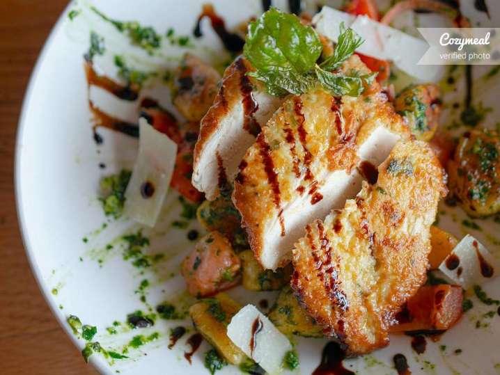 Crispy Gnocchi Chicken Pesto