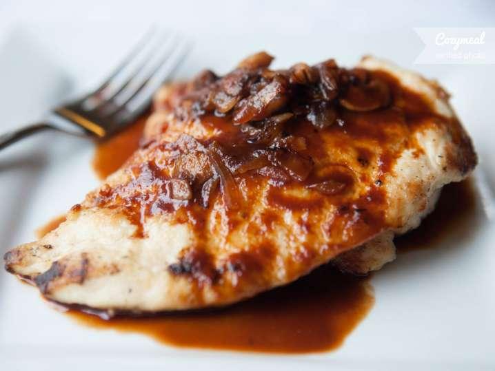 Chicken with mushroom sherry sauce