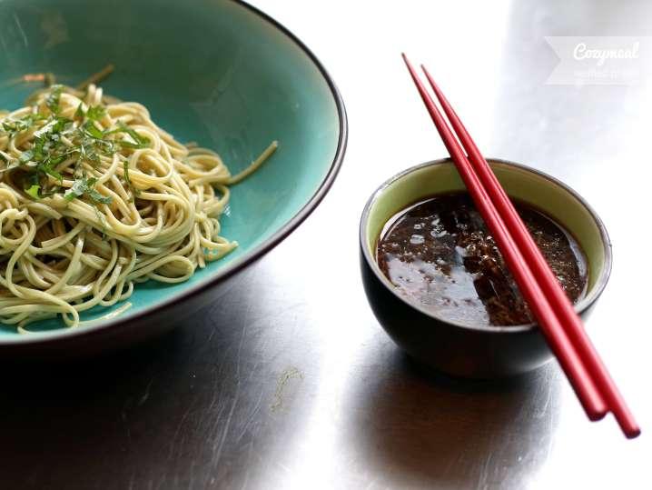 Cold soba noodles with ginger-lime vinaigrette