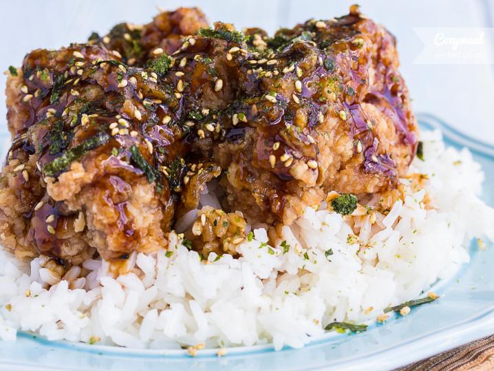 Hawaiian Garlic Furikake Chicken