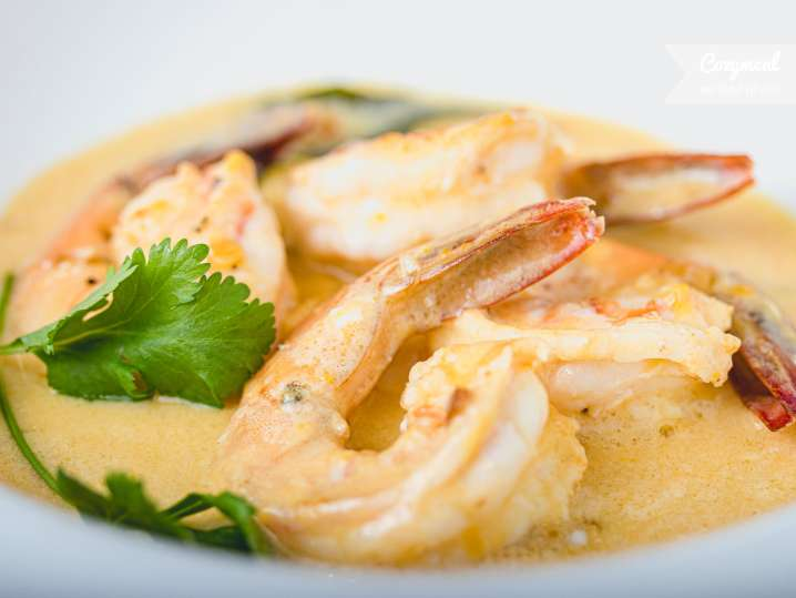 Prawns and Salted egg in Coconut Cream Sauce