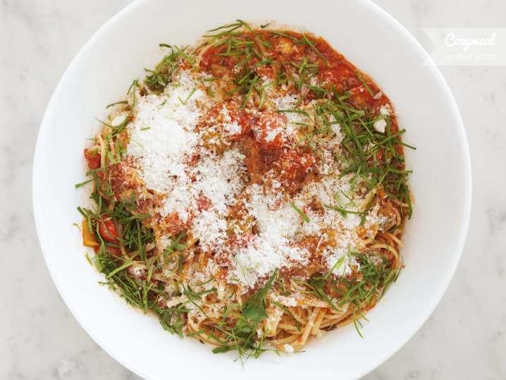angel hair pasta tomato basil sauce
