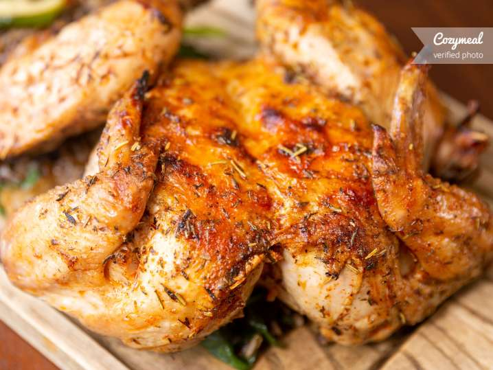 Roasted Chicken Diavola With Salsa Verde