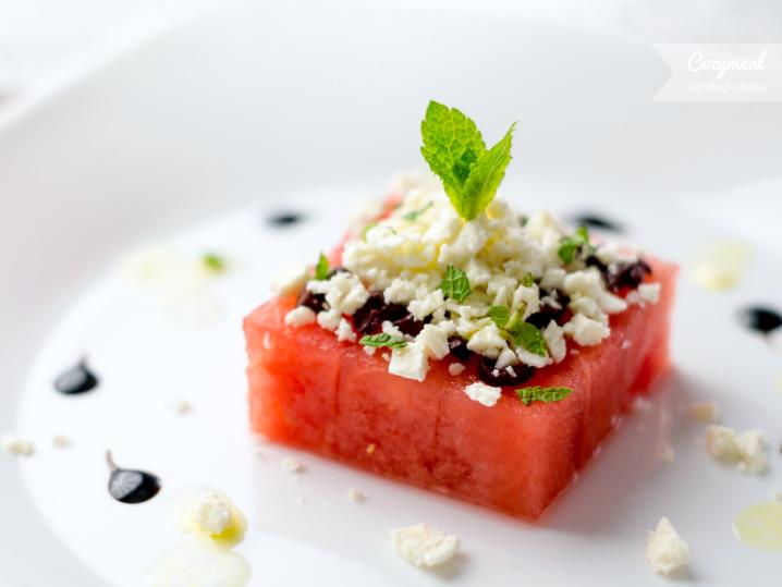 feta and mint watermelon salad