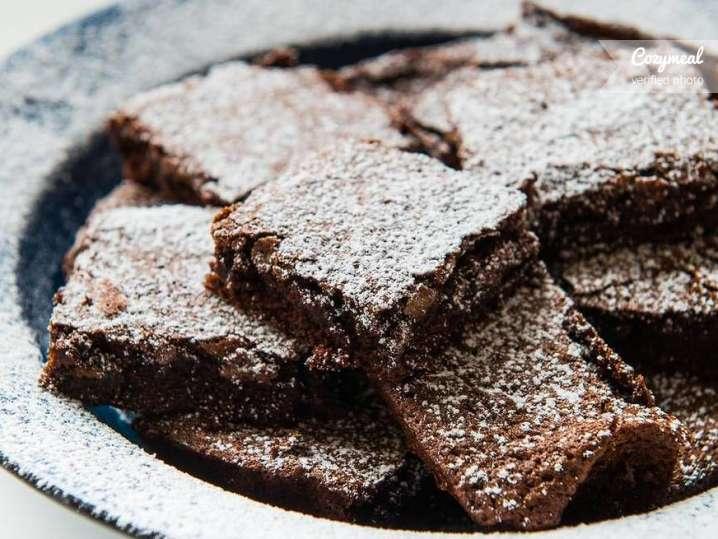 freshly made brownies
