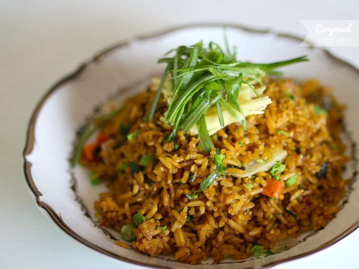 fried rice with asian vegetables