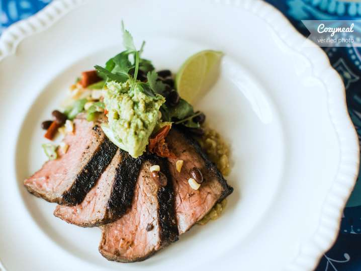 grilled skirt steak with cilantro and lime