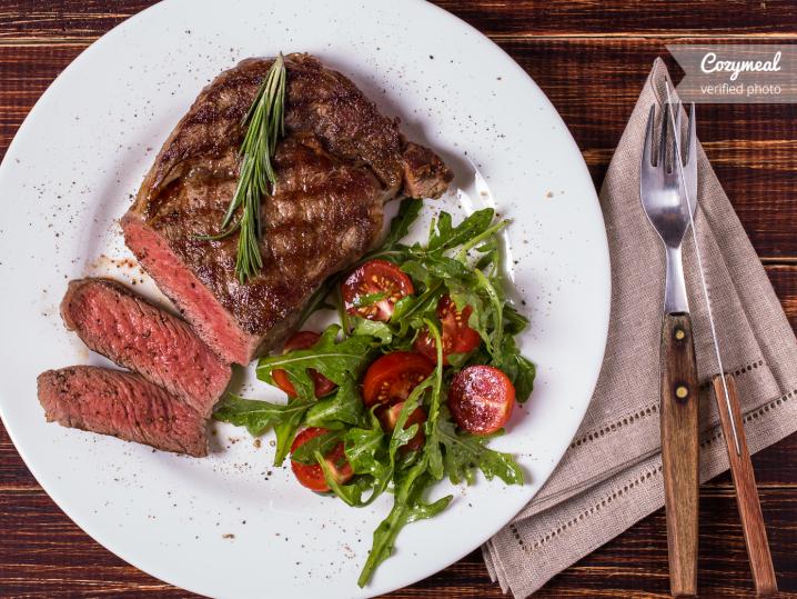grilled texas ribeye steak