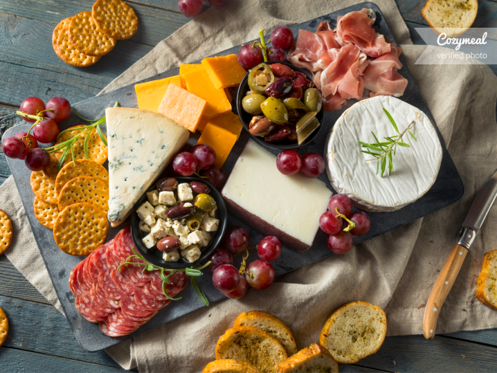 meat and cheese charcuterie board