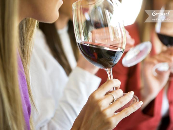 woman tasting pinot noir wine