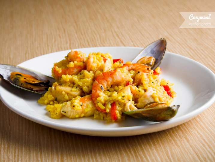 paella plated