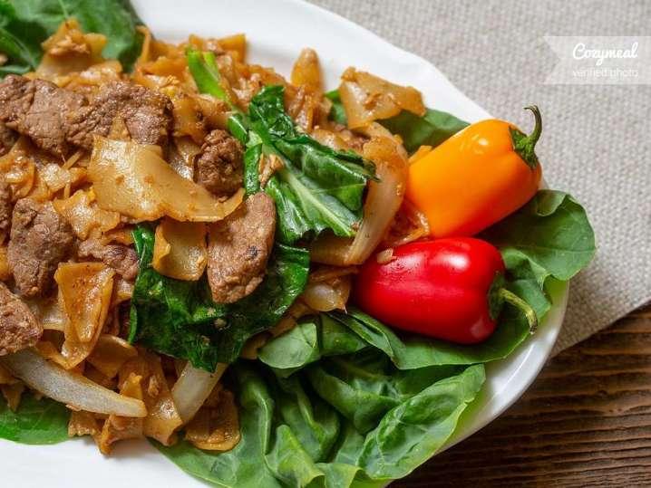 pan fried beef noodles