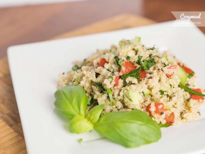quinoa with avocado
