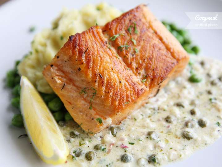 salmon with dill and capers
