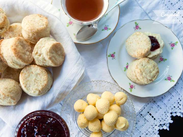 scones with preserves