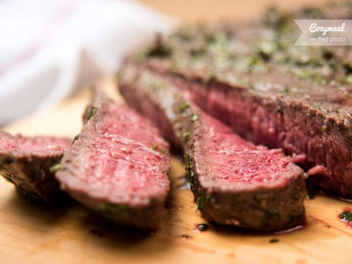 Herb Butter Basted Strip Steak