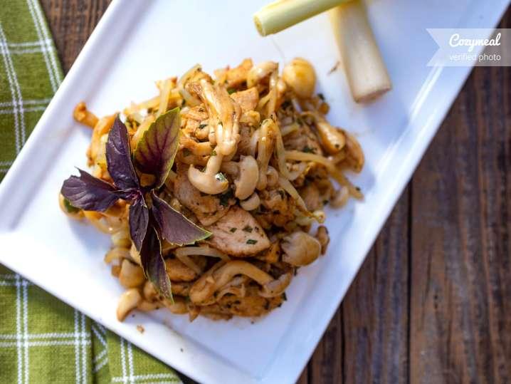 stir fried chicken with tamarind glaze