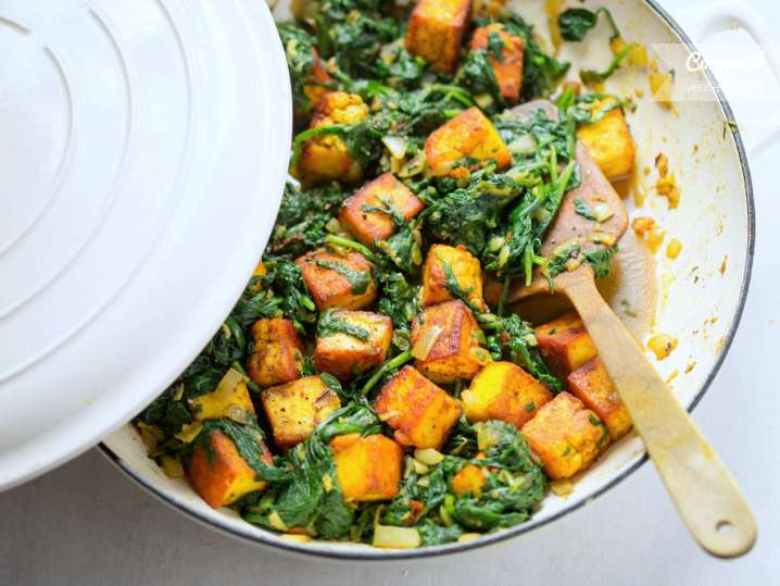 tofu and spinach stir fry