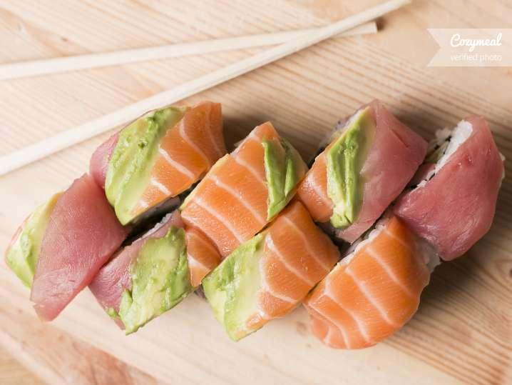 tuna and salmon rolls