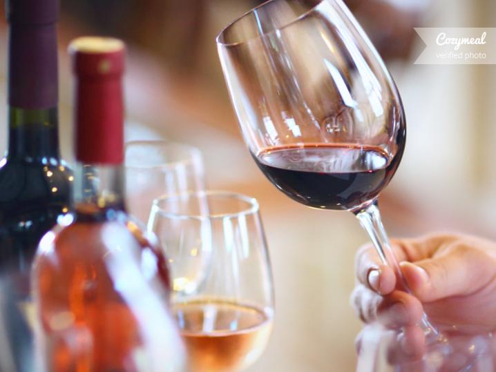 sampling red wine