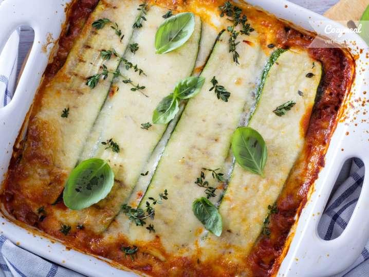 zucchini lasagna with turkey sauce