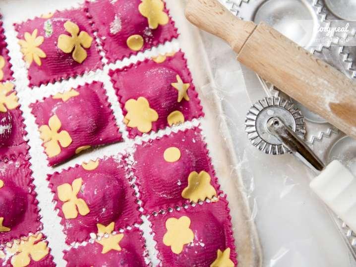 pink ravioli